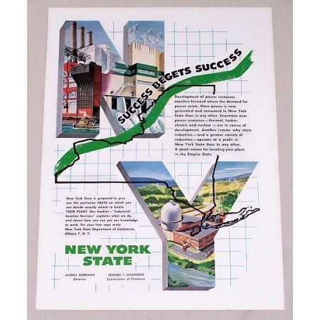 1955 New York State Color Industrial Recruitment Color Print Ad