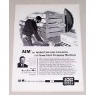 1954 Acme Strapping Machine Product Line Packaging Vintage Print Ad