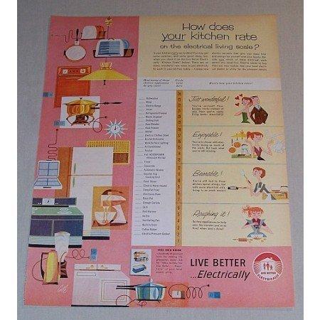 1957 Live Better Electricity Vintage Print Ad