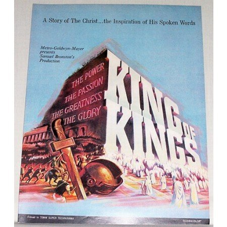 1961 Color Print Movie Ad King of Kings Story Of Christ
