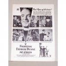 1948 Vintage Movie Ad Fighting Father Dunne Celebrity Pat O'Brien