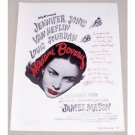 1949 Vintage Movie Ad Madame Celebrity Bovary Jones Heflin Jourdan