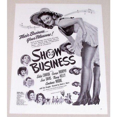 1944 Vintage Movie Ad Show Business Celebrity Cantor Davis +