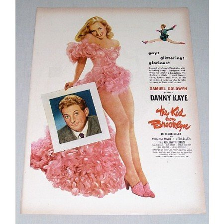 1946 Color Print Movie Ad Kid From Brooklyn Celebrity Danny Kaye