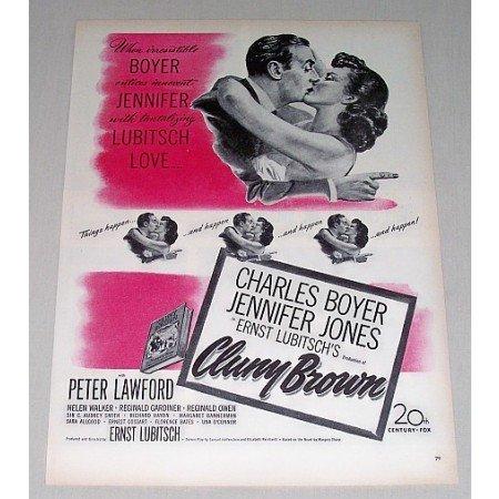 1946 Color Print Movie Ad Cluny Brown Celebrity C. Boyer J. Jones