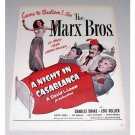 1946 Color Print Movie Ad Night In Casablanca Celebrity Marx Bros.
