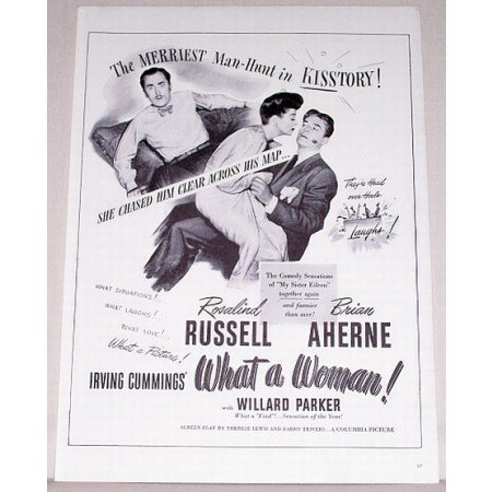 1943 Vintage Movie Ad WHAT A WOMAN Celebrity R Russell
