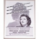 1942 Vintage Movie Ad Mrs. Miniver Celebrity Greer Garson