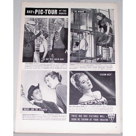 1948 RKO Pic-Tour Of The Month Vintage Ad Celebrity R Mitchum