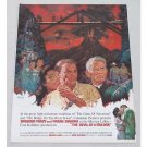 1962 Color Print Movie Art Ad DEVIL AT 4 O'CLOCK Celebrity Frank Sinatra Spencer Tracy
