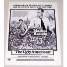 1963 Vintage Movie Ad THE UGLY AMERICAN Celebrity Marlon Brando