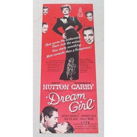 1948 Color Print Movie Ad DREAM GIRL Celebrity Betty Hutton MacDonald Carey