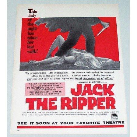 1960 Color Print Movie Ad JACK THE RIPPER Celebrity Joseph Levine
