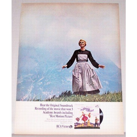 1966 RCA Victor The Sound Of Music Soundtrack Color Print Ad