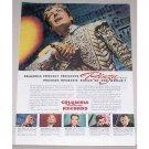 1944 Columbia Records Color Print Ad Celebrity Operatic Basso Ezio Pinza