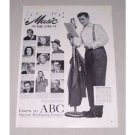 1949 American Broadcasting Co. Vintage Print Ad Celebrity G. MacRae