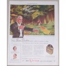 1945 RCA Victor Records Ad Celebrity Conductor Thomas Beecham