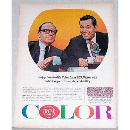 1965 RCA Victor Color Print Ad Celebrity Jack Benny Johnny Carson