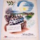 1943 Rudolph Wurlitzer Dove Children's Choir Art Vintage Color Print Ad
