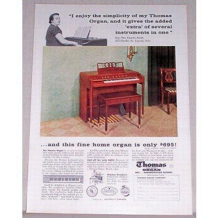 1957 Thomas Electric Organ Color Print Ad