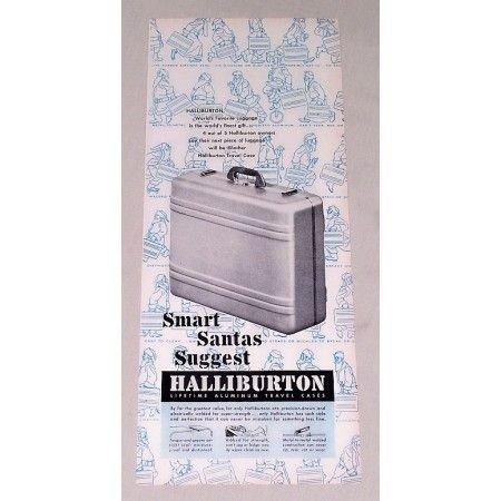 1947 Halliburton Aluminum Travel Case Vintage Print Ad