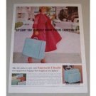 1957 Samsonite Ultralite Luggage Color Print Ad