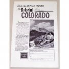 1961 Burlington Route Denver Zephyr Colorado Travel Vintage Print Ad