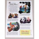 1946 Southern California Vacation Travel Color Print Ad