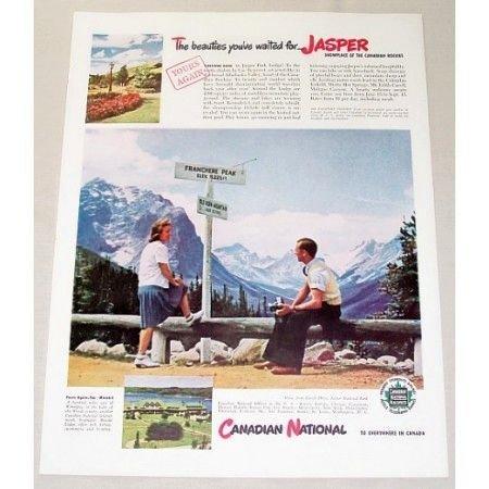 1946 Canadian National Jasper National Park Color Print Ad