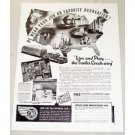 1946 Trailer Coach Manufacturers Vintage Print Ad - Live and Play