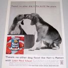 1960 Ken L Ration Dog Food Color Print Ad