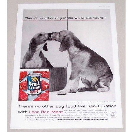 1960 Ken-L-Ration Dog Food Vintage Print Ad - There's No Other Dog...