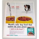 1960 Gravy Train Dog Food Bulldog Color Print Ad