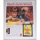 1962 Friskies Mix Meal For Dogs Color Print Ad