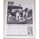 1961 Purina Dog Chow Vintage Print Ad - Ready To Run The Line