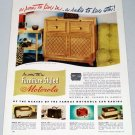 1947 Furniture Styled Motorola Radio Phonograph Vintage Color Print Ad