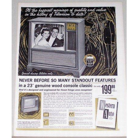 1961 Western Auto Truetone Model 2DC1210 TV Color Print Ad