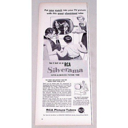 1956 RCA Silverama Super Aluminized Picture Tube Vintage Print Ad