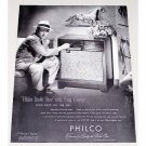 1947 Philco 1260 Radio Phonograph Vintage Print Ad Celebrity Bing Crosby