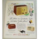 1948 RCA Victor 75X11 Golden Throat Radio Color Print Ad