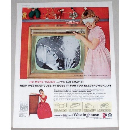 1958 Westinghouse Nordic 21 Television Color Print Ad