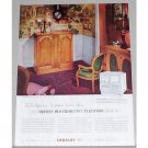 1952 Crosley Duo-Frequency Television Color Print Ad