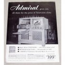 1949 Admiral TV Radio Phonograph Vintage Print Ad - Magic Mirror