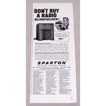 1940 Sparton 1071PA 10 Tube Radio Phonograph Vintage Print Ad