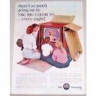 1962 NBC Big Color Console Television Color Print Ad