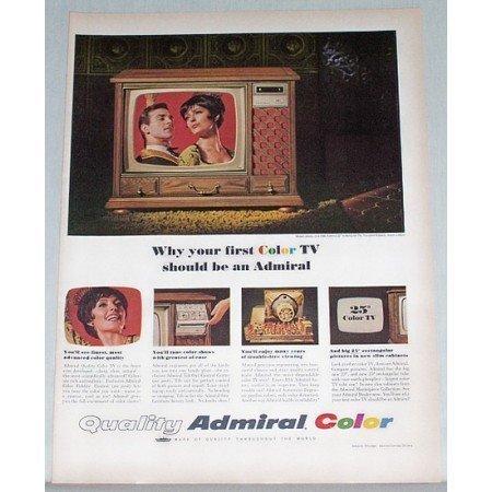1966 Admiral 25 Rectangular Television Color Print Ad