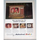 1966 Admiral 25 Rectangular Television Color Print Ad