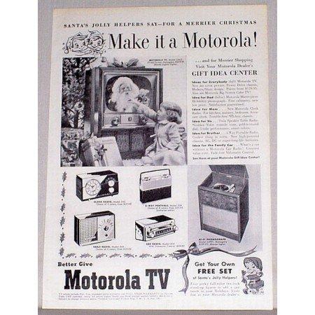 1954 Motorola TV Television Vintage Print Ad - Make It A Motorola