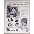 1954 Motorola TV Television Vintage Print Ad - Make It A Motorola