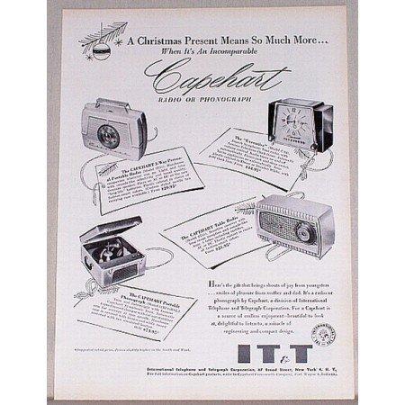 1954 IT&T Capehart Radio Phonograph Vintage Print Ad